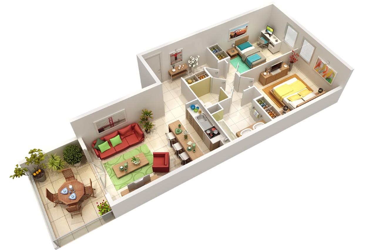 Achat d 39 un logement neuf sur plan for Appartement plan