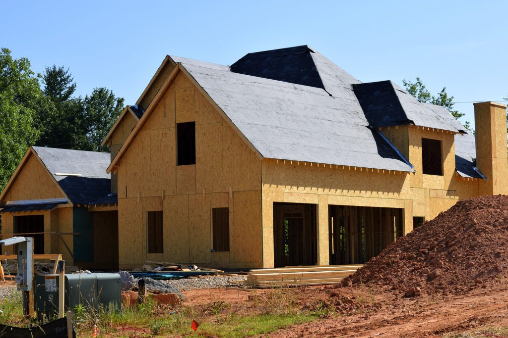Chantier de construction d'une maison neuve
