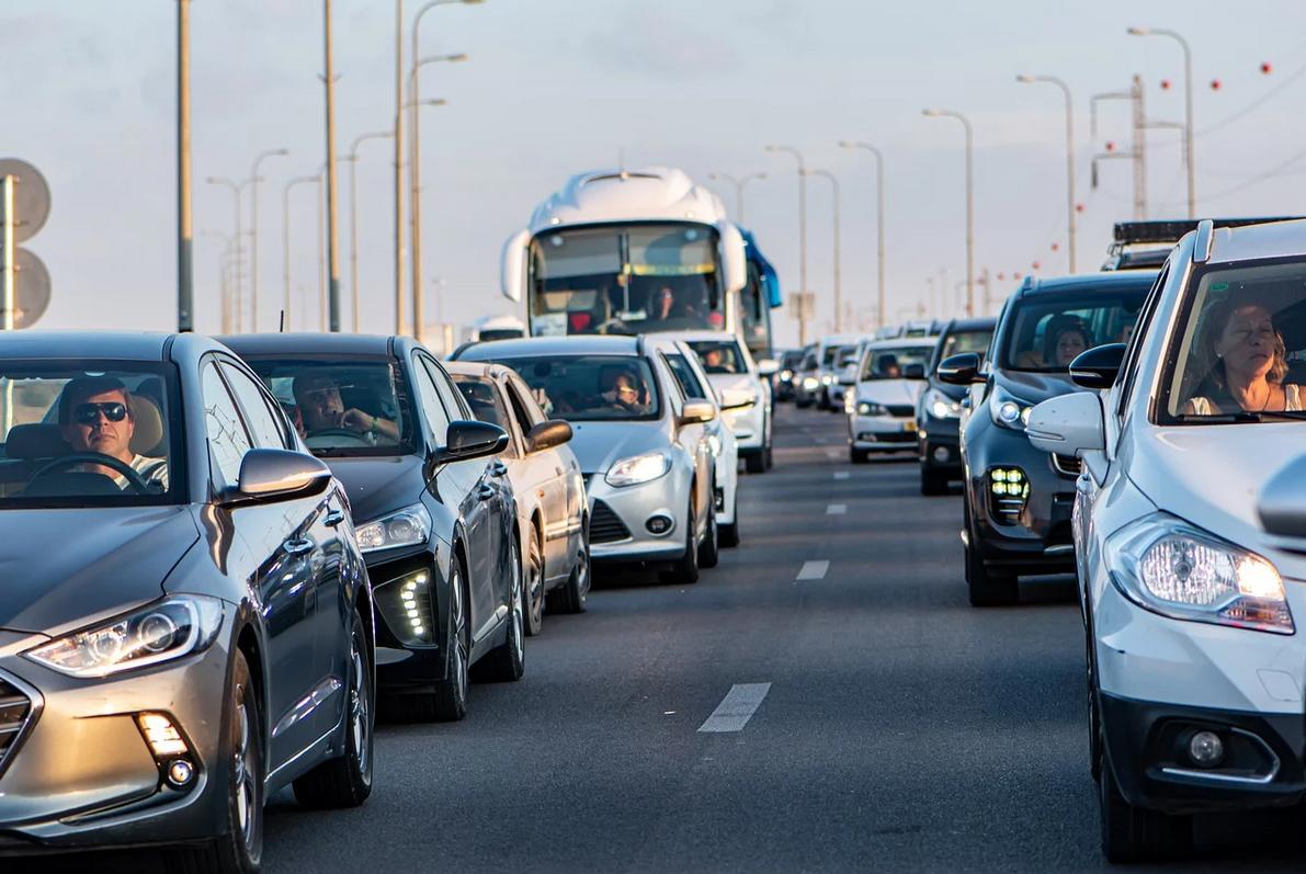 Embouteillages sur la route
