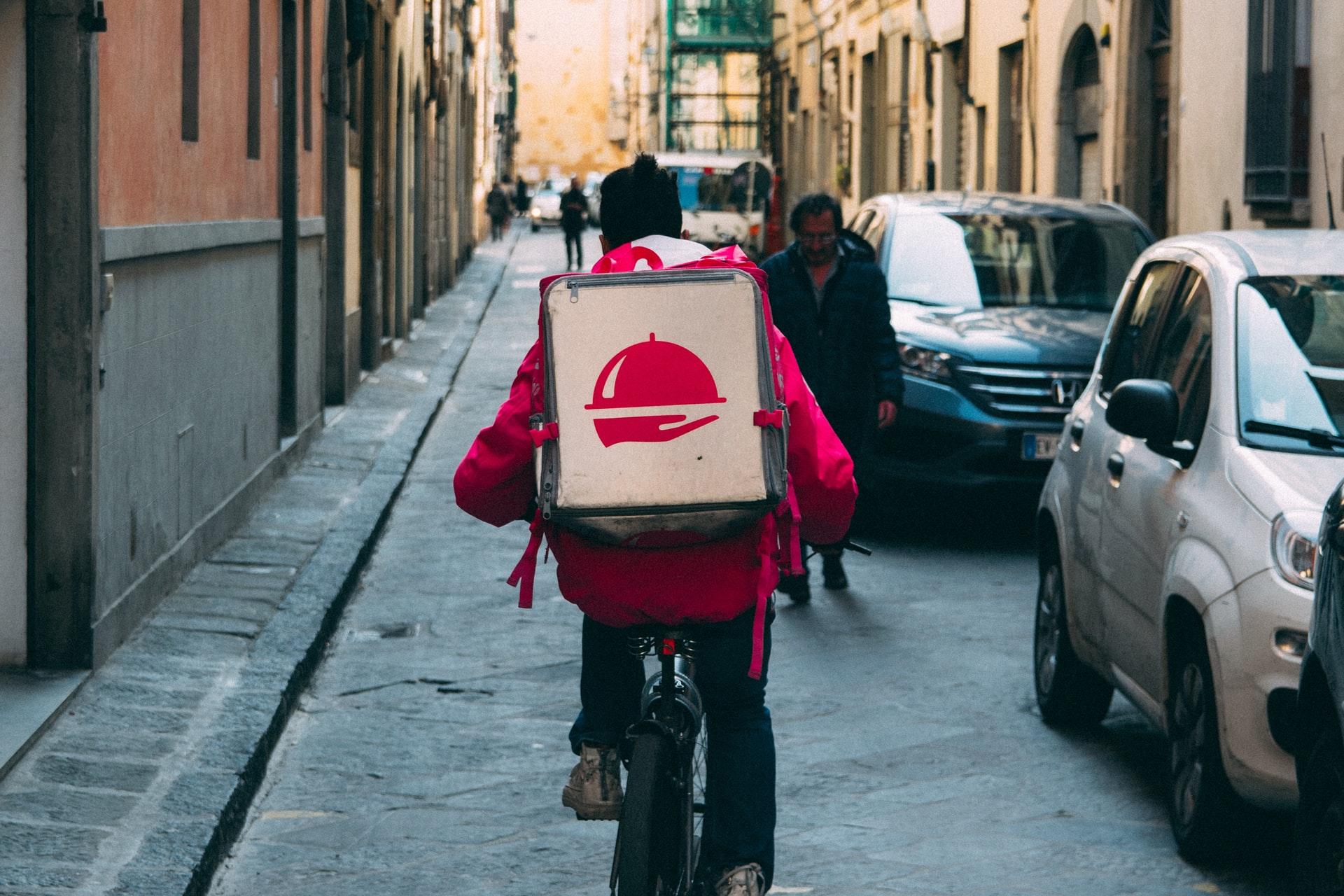 livraison de nourriture à vélo