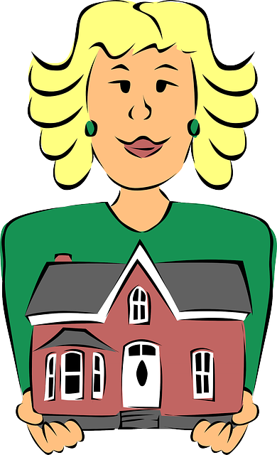 dessin agente immobilière   maison
