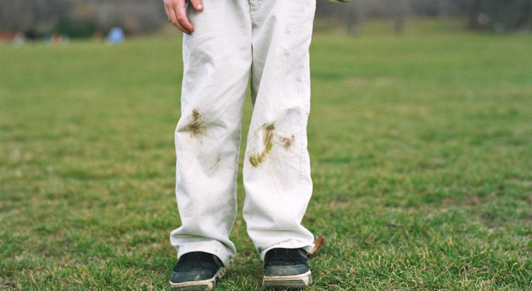 Tache d'herbe
